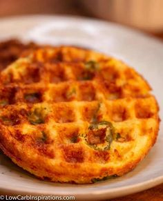 There is a trick to this Keto Cornbread Chaffle recipe! It's the best and mo… There is a trick to this Keto Cornbread Chaffle recipe! It's the best and most real tasting cornbread that is keto friendly and doesn't use actual corn! Pollo Y Waffles, Chicken And Waffles, Spicy Recipes, Low Carb Recipes, Diet Recipes, Recipes Dinner, Slimfast Recipes, Sweets Recipes, Mexican Recipes