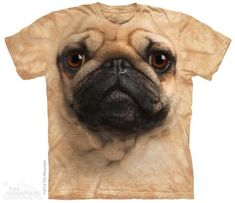 Pug anything! Perhaps one of the sweetest and most adorable creatures on the planet! A tribute to the pug. The Mountain Pug Tee now featured on Fab. Rottweiler, T Shirt Chien, Amor Pug, Mode Geek, Pug Shirt, Big Face, 3d T Shirts, Oeko Tex 100, Animal Faces