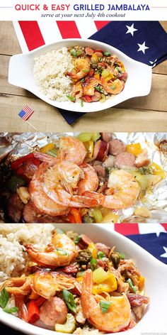 Quick & Easy Grilled Jambalaya #July4th