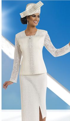 025df4e06f9 Donna Vinci Knits 13198 ( Exclusive Knit Ladies Suit With Jacquard And  Elaborate Rhinestone Trims )