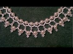 "Video:  ""The Queen's Pearls"" from Beading4perfctionists.  Simple netting~ Seed Bead Tutorials"