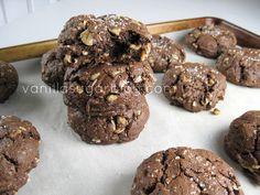 salty chocolate oat cookies