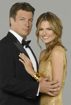 Richard Castle (Nathan Fillion) and Kate Beckett (Stana Katic) Tv Castle, Castle 2009, Castle Tv Series, Castle Tv Shows, Castle Beckett, Stana Katic, Richard Castle, Big Bang Theory, Castle Season 6