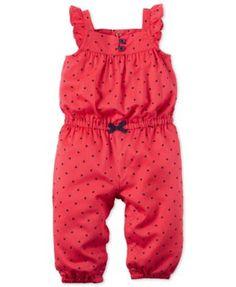 Carter's Baby Girls' Mini Dot Jumpsuit - Shop All Baby - Kids & Baby - Macy's Carters Baby Clothes, Carters Baby Girl, Cute Baby Clothes, Baby Girl Newborn, Toddler Girl, Baby Kids, Fashion Niños, Kids Fashion, Toddler Outfits