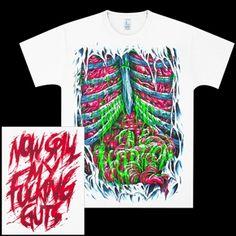 Official Bring Metal The Horizon spill my guts shirt.