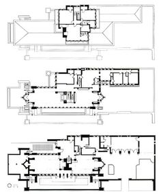 Frank Lloyd Wright's plan for his house and studio in 1889