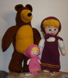 Mása, Mása és a Medve, horgolt