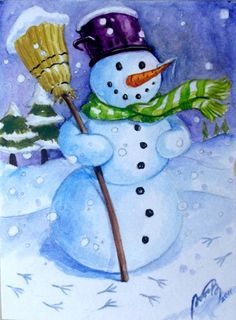 1000 images about ideas for oil painting 2013 christmas for How to paint snowmen