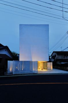 Torus by Atelier Norisada Maeda I Like Architecture Idea House to build next to an urban green space or parking lot and contract with city to use white area of house as an outdoor movie screen to bring the community together
