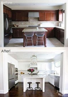 Blindsiding Ideas: Kitchen Remodel Cost Money galley kitchen remodel on a budget.Affordable Kitchen Remodel Style small kitchen remodel pass through.Mid Century Kitchen Remodel Home. Updated Kitchen, New Kitchen, Kitchen Dining, Kitchen Decor, Kitchen Small, Kitchen Ideas, Cheap Kitchen, 1970s Kitchen, Kitchen Updates