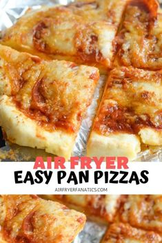 Make a fabulous GlutenFree Air Fryer Pan Pizza in less than 10 minutes! These personal pizzas are perfect for one or many, a great choice for movie night! AirFryer AirFryerRecipes AirFryerFanatics is part of pizza - pizza Air Fryer Oven Recipes, Air Frier Recipes, Air Fryer Dinner Recipes, Air Fryer Pan, Deep Fryer, Gourmet Recipes, Cooking Recipes, Lunch Recipes, Pizza Recipes