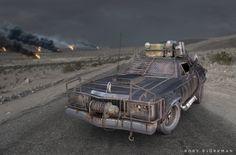 Post Apocalypse Car, Rory Björkman on ArtStation at https://www.artstation.com/artwork/post-apocalypse-car
