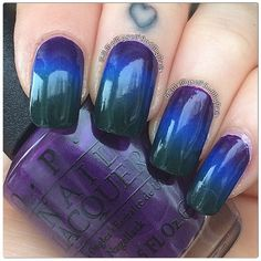 Darker more fall like gradient using three OPI. I Carol About You, Dating A Royal, and Christmas Gone Plaid.