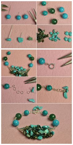 Buy Jewelry Beads for Bracelet and Necklace Online Wire Jewelry, Jewelry Crafts, Beaded Jewelry, Jewelery, Beaded Bracelets, Polymer Clay Bracelet, Jewelry Making Tutorials, Bracelet Tutorial, Wire Wrapped Pendant