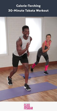 Tabata is a form of HIIT (High Intensity Interval Training) that alternates between 20 seconds of intense bursts of work and 10 seconds of rest in four-minute rounds. It burns serious calories. Try this Tabata workout! Fitness Workouts, Tabata Workouts, Hiit, At Home Workouts, Fitness Tips, Cardio Kickboxing, Video Sport, Sport Videos, Yoga