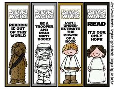 Star Wars Themed Bookmarks Melonheadz Graphics   - 8 Designs ADORABLE.  Just print and cut.