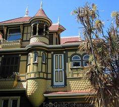 Door to Nowhere at the Winchester Mystery House in San Jose, California  http://www.tourguidetofun.com/winchester-mystery-house/ #doortonowhere #winchestermysteryhouse