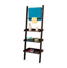 RiverRidge Home Products Espresso Bath Ladder Shelf and Towel Bar at www.bonton.com