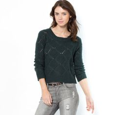 Pull court col rond boutonné dos SOFT GREY