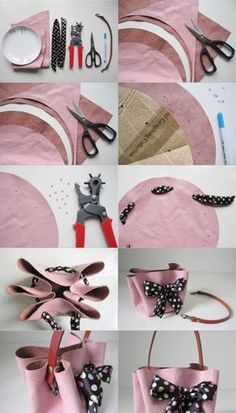How to Make No Sew Handbag Tutorial