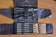 Antique surgical instruments/ J. Hartz Company/ by VieuxCharmes Medicine Cabinet, Instruments, Buy And Sell, Antiques, Handmade, Stuff To Buy, Antiquities, Antique, Hand Made