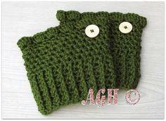 Rhiannon Boot Cuffs, free crochet pattern on AG Handmades