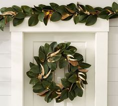 Lit Magnolia Wreath #potterybarn