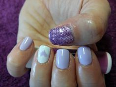 Purple with bling nails!