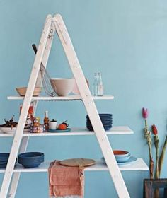 Take a ladder to new heights with these savvy storage and display ideas.