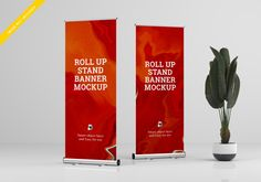 Rollup xbanner stand mockup. template ps... | Free Psd #Freepik #freepsd #mockup #template #event #psd Banner Stands, Tissue Boxes, Mockup, Templates, Ps, Wood Design, Art Girl, Abstract, Free