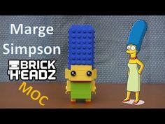 LEGO Marge Simpson BrickHeadz Custom MOC Tutorial Lego Simpsons, Funko Pop Toys, Bart Simpson