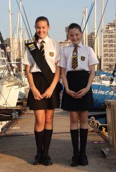 Alle Größen | School girls uniforms - something different about this uniform | Flickr - Fotosharing!