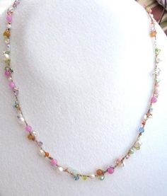 crochet beaded jewelry - necklaces and bracelets -- easy, fast.