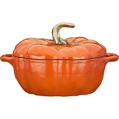 Staub Pumpkin Covered Casserole, $196 CAD