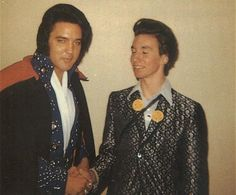 November 13, 1972 - Elvis Backstage with a fan before the San Bernadino, CA show on Novmber 13, 1972