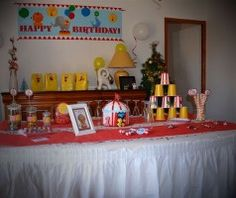 sweet-table anniversaire cirque