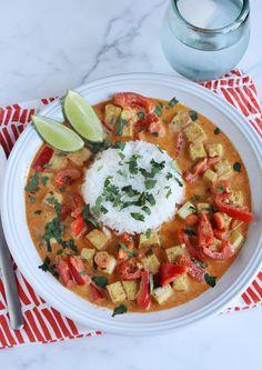 Curry rojo con tofu