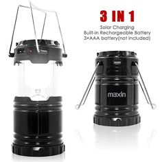 Ultra Bright Camping Lantern with Rechargeable Batteries, Water Resistant - maxin Portable LED Solar Collapsible Camping Lantern Flashlights Torch for Outdoor -- Check out this great product.