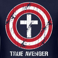 Another potential theme where we connect what makes superheros so super to Jesus Christ as our Savior. Can tie in a potential superhero movie night or have counselors nicknames be based off of super heroes. Christian Memes, Christian Shirts, Comic Book Bible, Hero Central Vbs, 2 Advent, My Superhero, Superhero Logos, Vacation Bible School, Kids Church