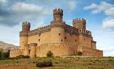 Photographic Print: Madrid, SPAIN - 20 Juny, Manzanares El Real Castle (Spain) Build in the Century by TTstudio : Real Castles, Fortification, Medieval Castle, Photography Backdrops, Portrait Photography, Travel Photography, Wedding Photography, Ancient Architecture, Kirchen