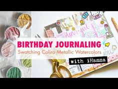 Journal with me: New METALLIC WATERCOLORS [Swatching Coliro Pearlcolors] - YouTube