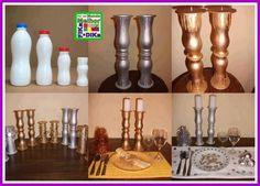 DIY Plastic Bottle Candle Holder DIY Plastic Bottle Candle Holder by diyforever Bottle Candles, Diy Candles, Plastic Bottle Crafts, Plastic Bottles, Milk Bottles, Plastic Milk, Milk Jugs, Recycled Crafts, Diy And Crafts