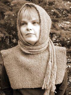 1300's Icelandic hood. Free pattern