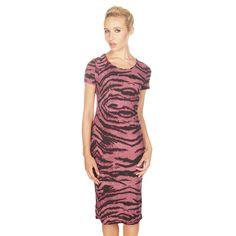 Lavish Alice Purple Tiger Print Bodycon Midi Dress £26