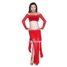 Belly Dance Dancewear Women's Tulle Gorgeous Sexy Outfits Including Top, Bottom, Skirt(More Colors) 2015 – €47.49