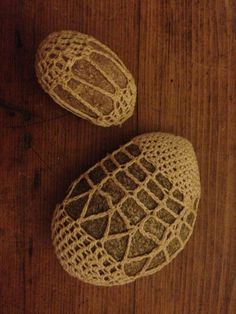 Crochet Rock set of two by BinaWorld on Etsy