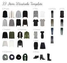 """33 Item Wardrobe - Winter"" by cat-closet on Polyvore featuring Yves Saint Laurent, Jadicted, Elena Mirò, Chicwish, Helmut Lang, Uniqlo, Zoë Jordan, Armani Jeans, The Row and Monki"
