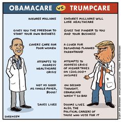 Ibamacre vs. Trumpcate - clear which is better, but national health care would be best