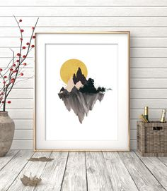 Watercolor Painting, Mountain Print, Watercolor Mountain, Watercolor Print, Wall Art Prints, Digital Print, Printable Art, Mountain Art by OhFinale on Etsy https://www.etsy.com/listing/268830350/watercolor-painting-mountain-print