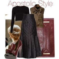 """Winter Apostolic Style"" by emmyholloway on Polyvore ...I would definitely change the shoes!!!"